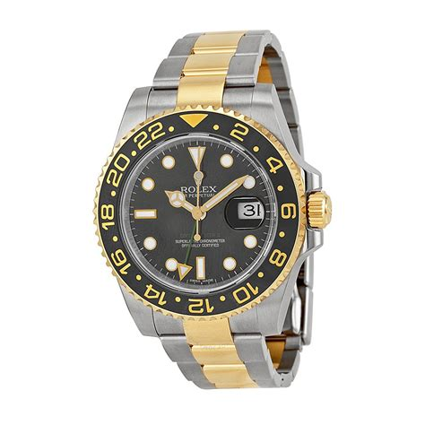 Rolex Fullgold rolex gmt master ii black stainless steel and 18kt