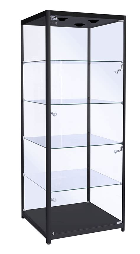 600mm aluminium glass display cabinet glass