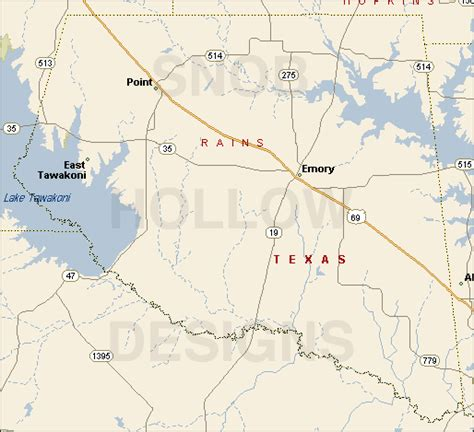 emory texas map rains county texas color map