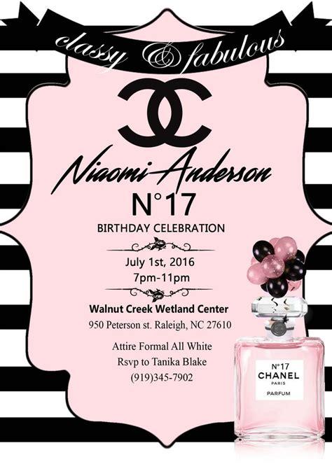 Best 25 Chanel Bridal Shower Ideas On Pinterest Chanel Party Chanel Birthday Party And Chanel Invitation Template