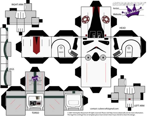 Wars Papercraft Templates - wars cubeecraft war and wars