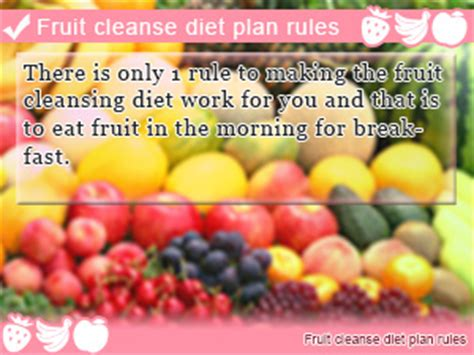 The Fruit Flush Detox Diet by Fruit Cleanse Diet Plan For Fruit In The Morning