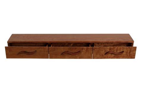 3 drawer floating shelf cherry bubinga