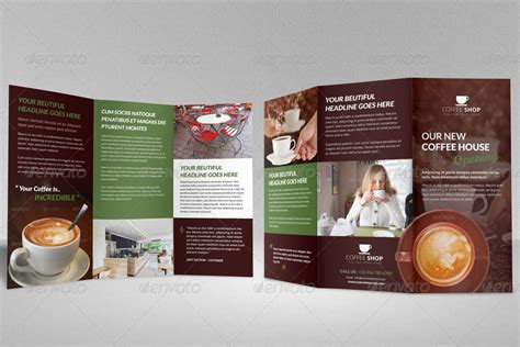 coffee shop brochure template coffee shop restaurant trifold brochure template by