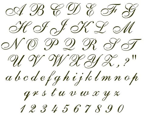 tattoo fonts joined up cursive font sle handwritten sles pinterest