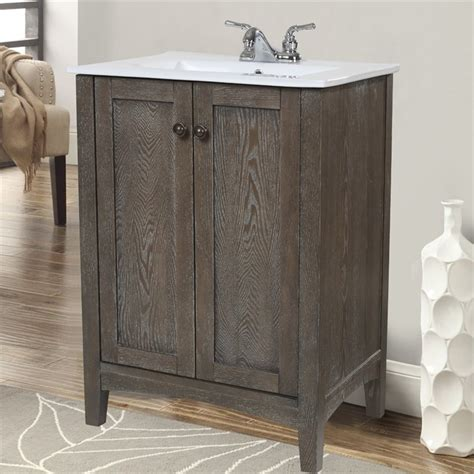 weathered oak bathroom vanity elegant lighting danville 34 quot bath vanity in weathered oak vf 2004