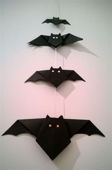 Origami Bat - diy bat origami kid