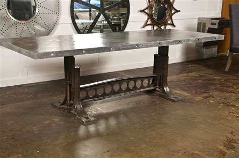 industrial kitchen table furniture industrial style dining table at 1stdibs