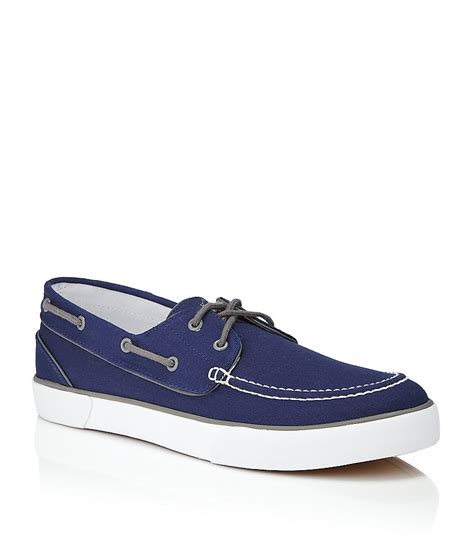 polo ralph lander boat shoe in blue for lyst