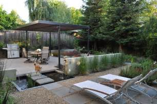 modern backyard water features for backyard patio modern with barbecue