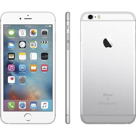 apple iphone 6s 64gb silver white refurbished 1 year warranty