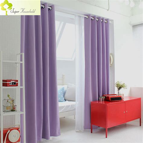 Purple Bedroom L Shades by Korean Physical Blackout Curtains For Window Modern Light