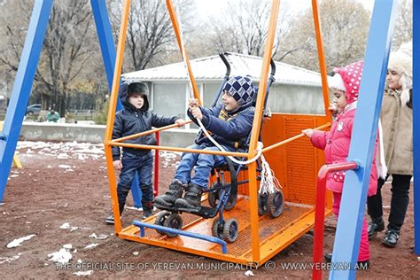 swings for disabled kids pendulums are installed for disabled children iyerevan