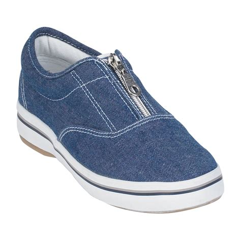 basic editions shoes basic editions s zipper canvas oxford blue