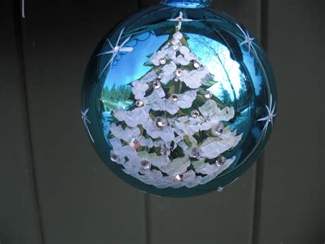 hand painted glass christmas ornament with by artisancolorado