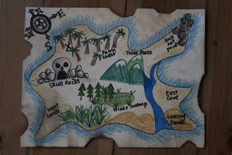 pirate treasure map diy pirate map and treasure hunt the imagination tree