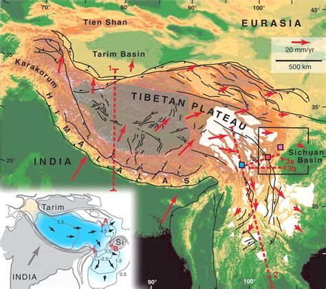 a and m cus map fig 1 the geological evolution of the tibetan plateau