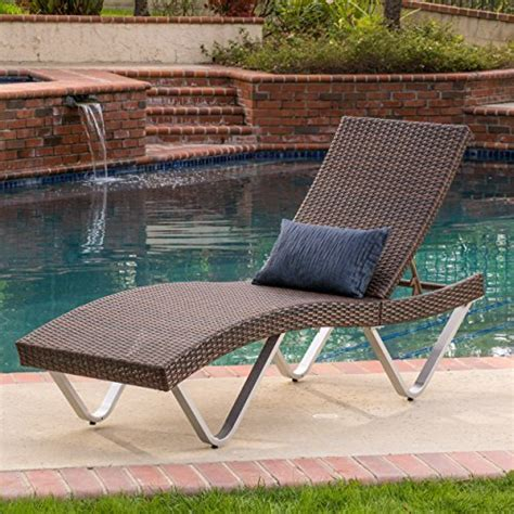 Single Chaise Lounge Chair by Manuela Outdoor Single Multibrown Wicker Chaise Lounge
