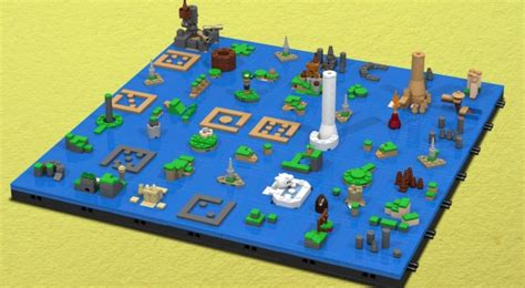 wind waker map legend of wind waker s map recreated with legos