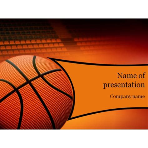 basketball game powerpoint template background for