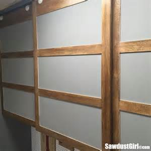 easy diy sliding doors for cabinets sawdust 174