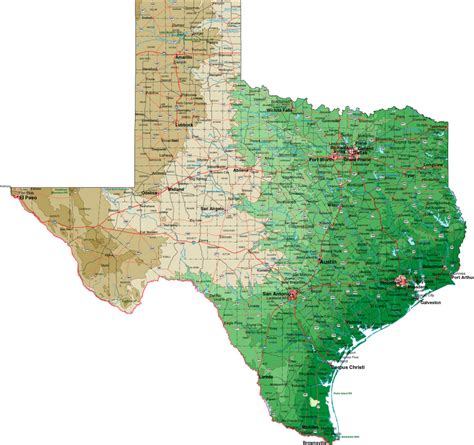image of texas map texas map image