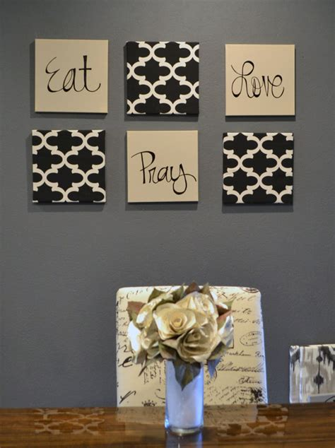 Eat Wall Decor eat pray wall pack of 6 canvas wall hangings