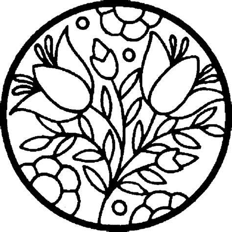 coloring page of flowers flower coloring pages coloring ville
