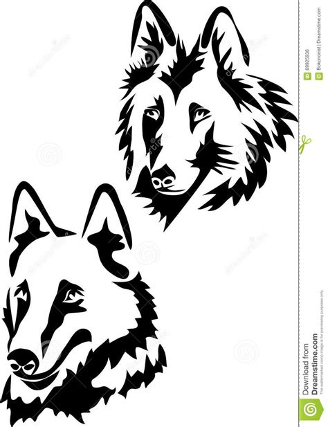belgian shepherd dog head stock vector image of black