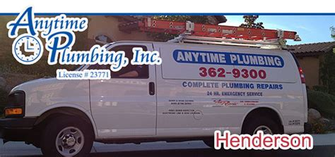 Anytime Plumbing by Henderson Plumbing Air Conditioning Heating Repair Services