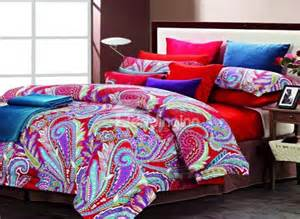 colorful comforter colorful feathers print 4 cotton bedding