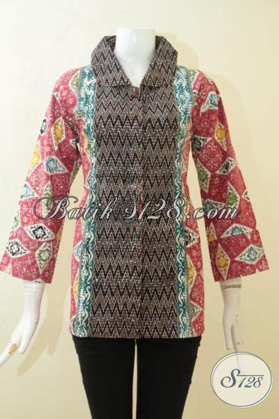 Jaket Ny Kombinasi Tiga Warna busana batik tiga motif baju batik dengan kombinasi warna