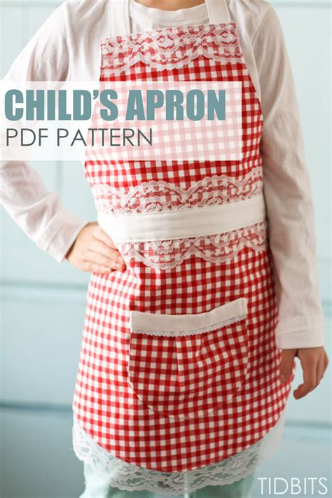 pattern children s apron free farmhouse apron pdf pattern download tidbits