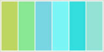 blue and green color schemes colorcombo172 with hex colors bed661 89e894 78d5e3