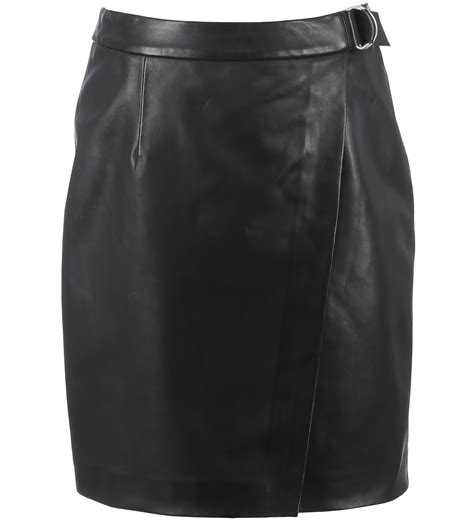 62258 navy blue leather skirt oakwood the leather brand