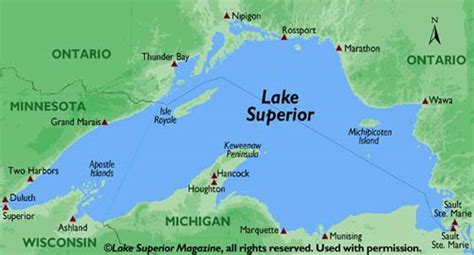 world map lake superior quot can you see to the other side of lake superior quot