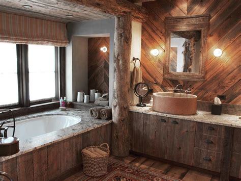 rustic bathroom walls photos hgtv