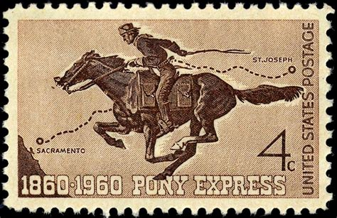 pony express file pony express centennial st 4c 1960 issue jpg