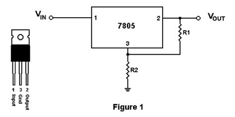 voltage regulator with variable resistor 7805 voltage regulator ic diagram electrical electronics concepts voltage