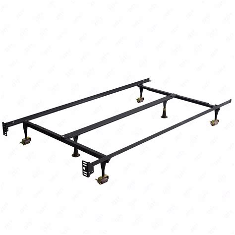 Metal Bed Frame Support Parts Metal Bed Frame Adjustable W Center Support Platform Heavy Duty Ebay