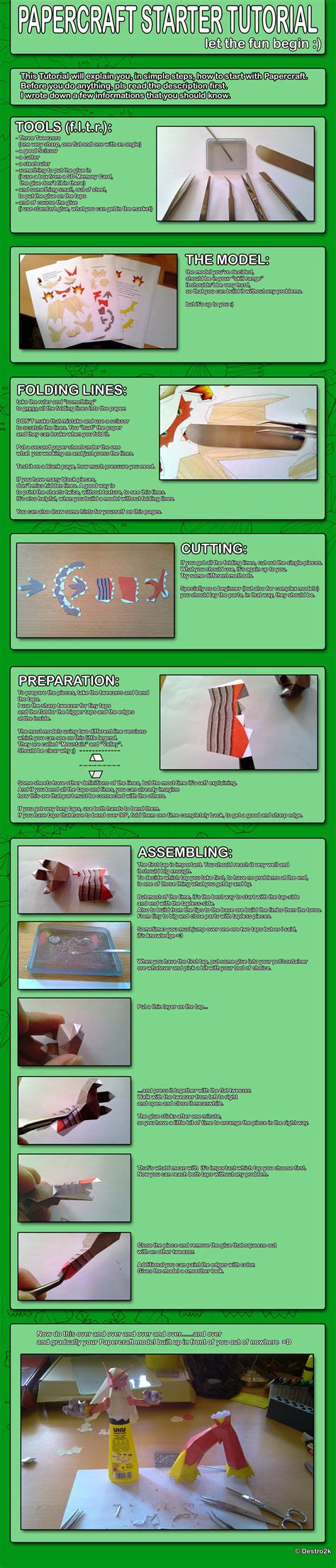 Papercraft Tutorial - papercraft starter tutorial by destro2k on deviantart