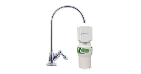 Aquasana Faucet Filter by Single Stage Counter Water Filter Chrome Aquasana