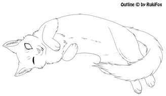 cat drawing template laying cat template by rukifox on deviantart