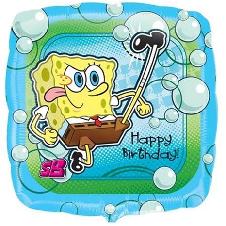 Balon Foil Karakter Spongebob 60 Cm sponge bob happy birthday folyo balon temal箟 folyo balon