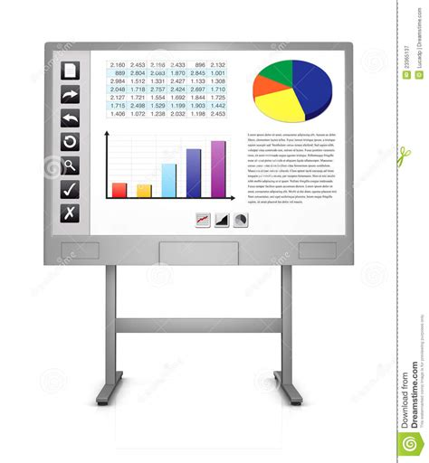 high tech office utilities the iquad interactive board interactive whiteboard royalty free stock photography