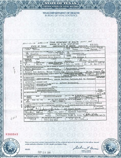 Marriage Records Houston Birth Certificate In Houston Template Records Of The