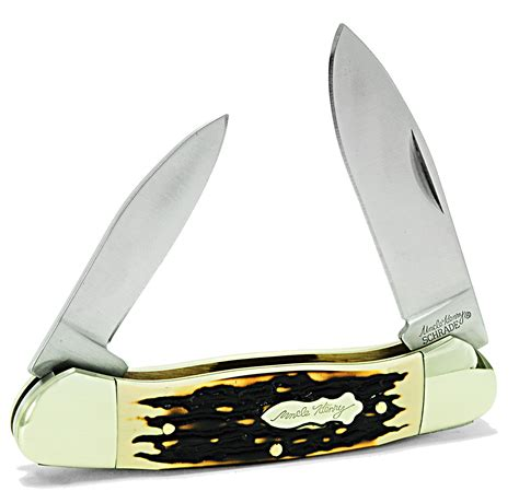 canoe knife schrade uncle henry large canoe 2 blade pocket knife