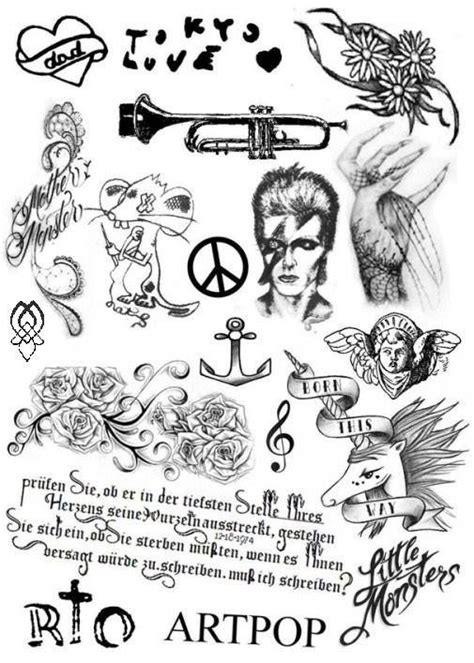 lady gaga tattoos removed gaga s tattoos gaga artwork by various artists