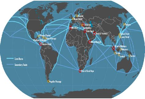 ship route map shipping routes cargo from china
