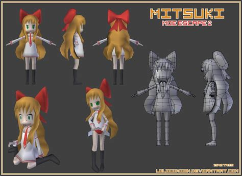 blender tutorial low poly character mitsuki low poly 3d anime character model made in